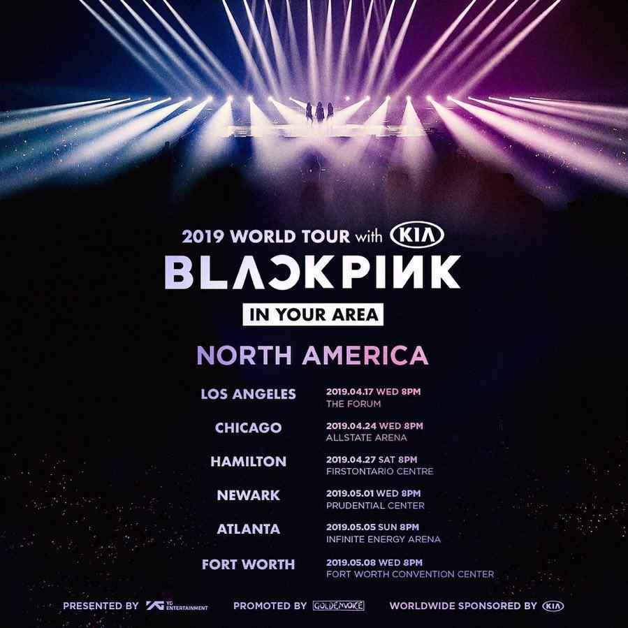 Blackpink 世界ツアー In Your Area 北米公演の日程発表 デバク
