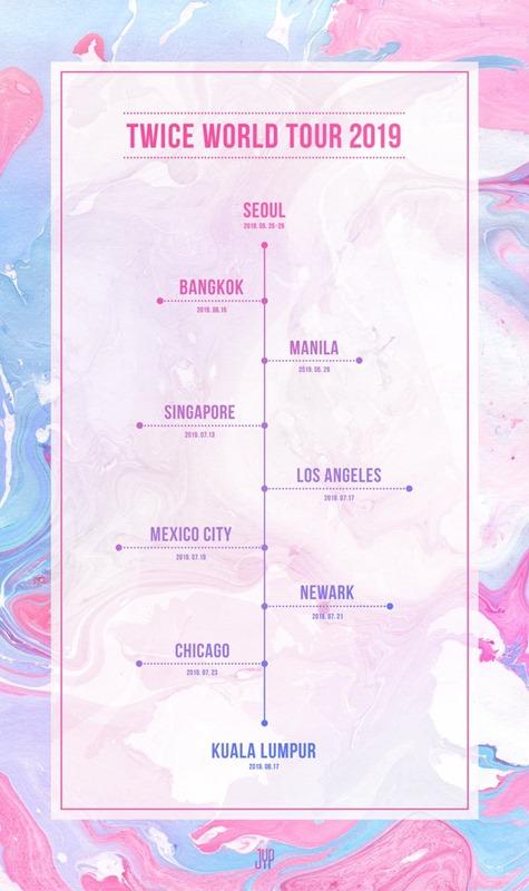 Twice ワールドツアー2019 Twicelights 開催発表 米laなど9都市