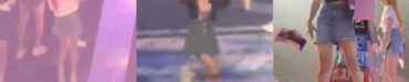 IZOne宮脇咲良&ミンジュに、あわやスローガン(ペットボトル?)直撃 - ファンから心配の声